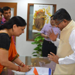 Meeting Hon'ble minister of Law and Justice and Minister of Information Technology Shri Ravi Shankar Prasad